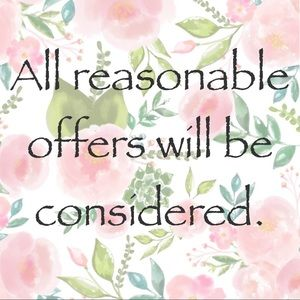 All reasonable offers will be considered.